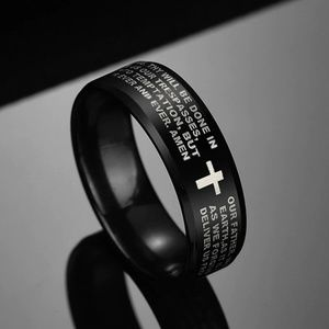 Jewelry - Stainless Steel Lords Prayer Christian Ring B16